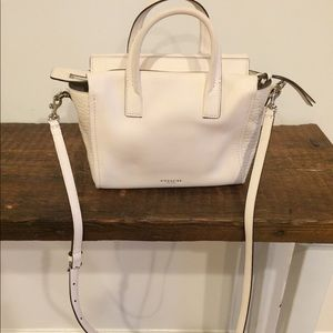 White Coach leather small satchel. Style # 27923